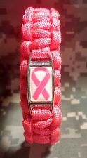 ALL PINK I'm A Breast Cancer Survivor BREAST CANCER AWARENESS Paracord Bracelet