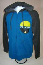 Mens new Volcom Stone zip up hoodie size S L XL black/blue nwt