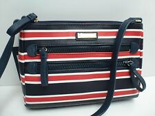 TOMMY HILFIGER Woman's XBody Messenger Bag *Navy/White/Red *Shoulder Purse New