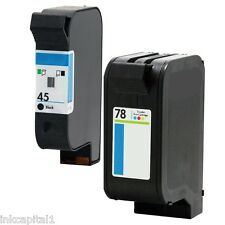 1 x Black & Colour Ink Cartridges Non-OEM Alternative For HP No 45 & no 78