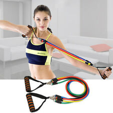 11PCS Resistance Bands Set Home Latex Yoga Pilates Exercise Fitness Workout