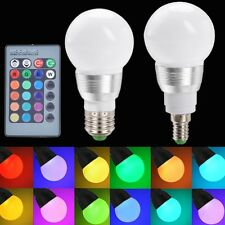 E27/E14 10W RGB LED Light Color Changing Lamp Bulb 85-265V With Remote Control