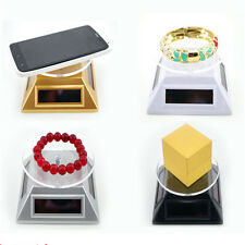 Solar Power Rotating Jewelry Phone Display Stand Turntable Plate Infinity MWUK