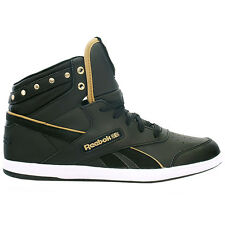 Reebok Bb7700 Mid Bling Ladies Shoes Classic Trainers Sneakers Leather black new