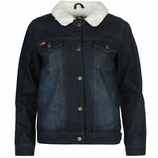 Lee Cooper Ladies Lined Denim Jacket Chest Pockets Long Sleeve Clothing