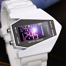 LED Digital Date Military Stealth Fighter Cool Day Waterproof Sport Wrist Watch