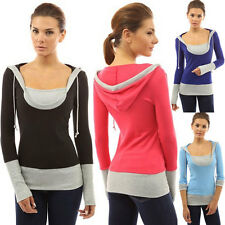 LIUS Women Long Sleeve Pullover Sweatshirts Hoodie Casual Tops T-shirts 4 Colors