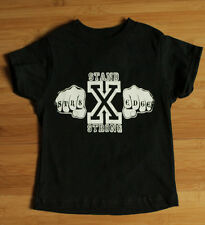 Straight Edge Toddler T-shirt Straightedge Hardcore American Apparel 100% cotton