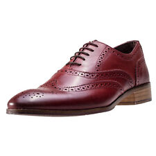 London Brogues Wister Oxford Mens Brogues Red New Shoes