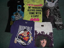 5 Lot Brand New Never Used Women T-Shirts Batman Superman Xena Small Large XL