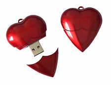 Cute Mini Heart Cartoon USB 2.0 Memory Stick 8GB 16GB 32GB Flash pen Drive Gift
