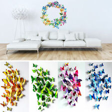 Trendy 3D Butterfly Design Decal Art Wall Stickers Room Decorations Home Decor