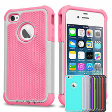 Hybrid Shockproof Rugged Silicone Protective Hard Case Cover for iPhone SE 5S 5G