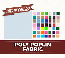 Solid Poly Poplin Fabric Woven Fabric by the Yard