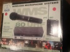 AKG SR-80 Wireless Microphone RECEIVER INC  AKG -C-444 HEAD SET & PT -80 NO MIC