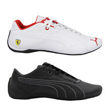 Puma Future Cat Leather Men Motorsport Trainers Shoes Leather white black new