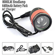 8000LM 2 in1 CREE T6 LED Headlamp Focus Bike Bicycle Front Light Head Lamp Torch