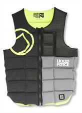 2016 Liquid Force Flex Wakeboard Watersports Impact Vest S - XXL, Green. 51100