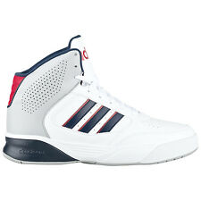 adidas Cloudfoam Nightball Mid White Men's Sneakers High Basketball Shoes