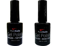 Gel Nail Polish Base Coat or Top Coat LED UV NAIL-EON for Nails, 15 ml NEW