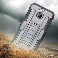 Hybrid Rugged Hard Armor Holster Case Stand Cover Belt Clip For HTC Bolt/10 Evo