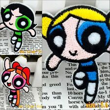 10pcs/set Cartoon Powerpuff Girls Embroidery Applique Sew/Iron on Patches/Badges