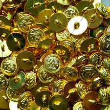 18mm Gold Plastic Button For Suit 1 Hole Round  DIY Sewing Craft 10/50/100pcs