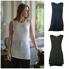 Gorgeous Sequin Knit Longer Length Sleeveless Party Top