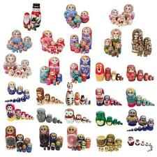 5/6/7/10pcs Wooden Wooden Russian Nesting Doll Animal/Matryoshka Stacking Dolls