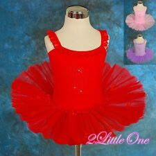 Bows Embroidery Ballet Tutu Girl Dance Costume Fairy Dress Child Size 2T-6 #023