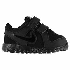 Nike Flex Experience Leather Trainers Infants Black Baby Shoes Sneakers Footwear