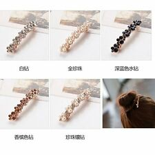 Charm Women Girl Crystal Rhinestone Bridal Hair Clip Hairpin Jewelry Barrette
