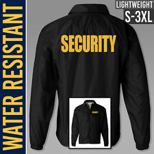 Security Jacket // Black Nylon // Water Resistant // Guard Uniform // Bouncer