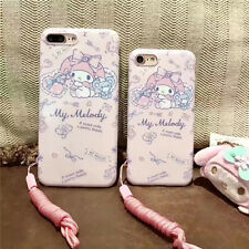 Lovely cartoon Bear Pink My melody strap soft case Cover for iPhone 7 6 6S Plus