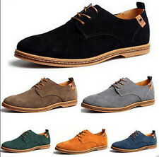 New TOP Men's Fashion Big Size Genuine Suede Shoes Lace Up Sneakers Casual Shoes