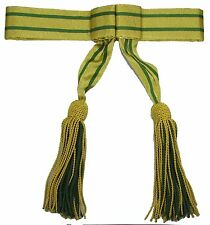 Sash Army Military Sash Waist Belt  Ceremonial Sash Gold Green  R1805