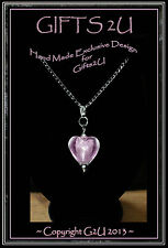 💖LADIES GIFT: 💕Love Heart Charms Silver Plated Necklaces & Earrings, Bookmarks
