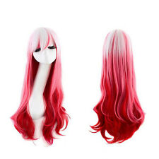 New Wig Cosplay Cos Harajuku Colorful Mix Long Curly Heat-Resistant Wig
