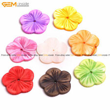 6 pcs Flower MOP Shell Loose Beads For Jewelry Making, Fresh Color Jewelry Beads