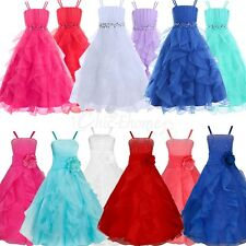 Princess Pageant Gown Flower Girl Dress Prom Bridesmaid Ballgown Formal Party