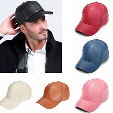 Unisex Adjustable Snapback Suede Leather Baseball Cap Visor Sport Sun Hat Cap