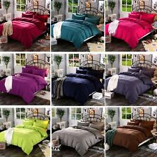 Solid Bedding Pillowcase Quilt Cover Duvet Cover Set Single Double King Size