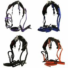 SINGLE NYLON DRIVING WEBBING HORSE BRIDLE REINS TRACES CRUPPER CARRIAGE HARNESS