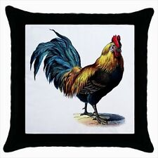 Rooster Throw Pillow Case Set (x2) - Decorative Toss Pillow
