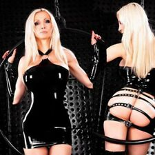 Sexy Womens Lingerie Mini Dress PVC Leather Bodysuit Bodycon Clubwear Costume