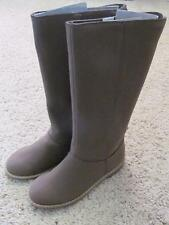 NWT 13 1 Gap Kids Chesnut Brown Suede Tall Riding Boots Shoes