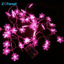 5m Snowflake Fairy Lights Battery Operated Waterproof Wedding Party Decoration