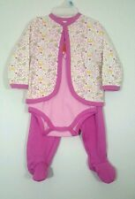 KIDGETS Baby Girl Jacket Onsie Legging 3Pc Set Butterfly 0-3 3-6 6-9 Months NWT
