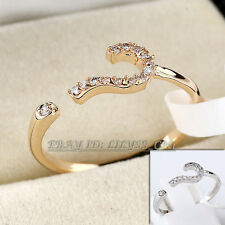 Fashion Rhinestone Micro Inlays Ring 18KGP CZ Crystal Size 5.5,6.5,8