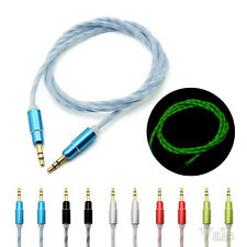 Luminous 3.5mm Male to Male Car Aux Cord Stereo Audio Cable For Samsung iPod MP3